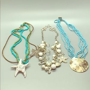 Jewelry - Lot of 3-Beach Themed Costume Statement Necklaces